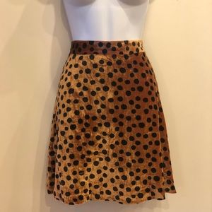 NWT: Madewell Velvet Circle Skirt With Dots